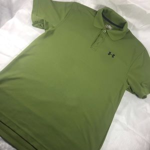 ❤️ Men's UA green wrinkle resist polo (8)